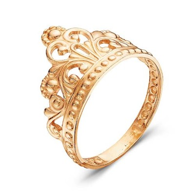 """Кольцо """"Корона"""" принцессы, позолота, 19 размер"""