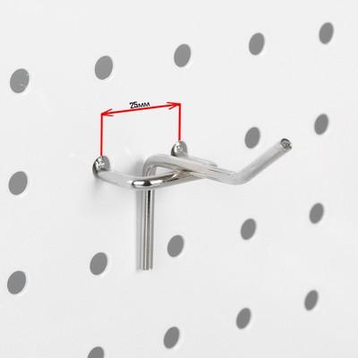 Крючок одинарный для перфорированной панели L5, d3.5мм, цвет хром
