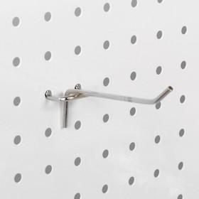 Крючок одинарный для перфорированной панели L10, d3.5мм, цвет хром