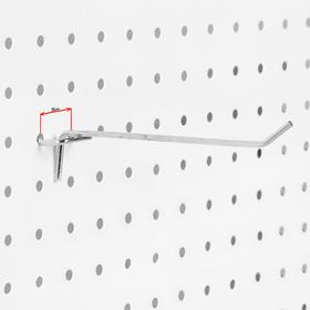 Крючок одинарный для перфорированной панели L15, d3.5мм, цвет хром