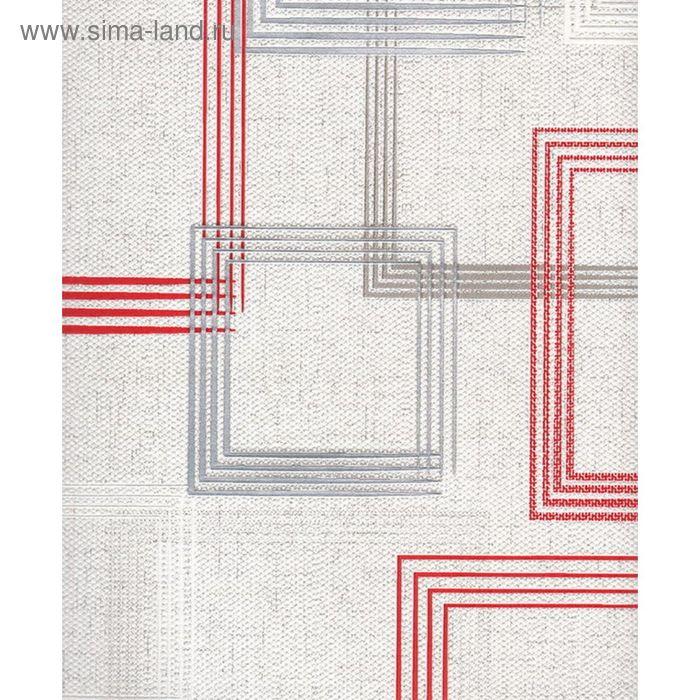 Обои виниловые на флизелиновой основе Индустрия 16147-24 vernissAGe квадраты красные 0,53х10м   2002