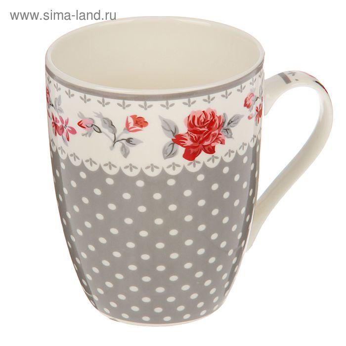 """Кружка 320 мл """"Цветы"""", цвета МИКС"""