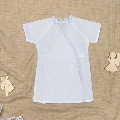 Рубашка для крещения, рост 86 см, цвет белый 00318-08_М