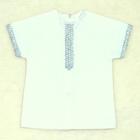 Рубашка для крещения 00319-08, цвет белый, рост 74 см