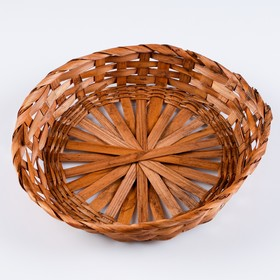 Saucer wicker ( bamboo), D26xH4,6 brown