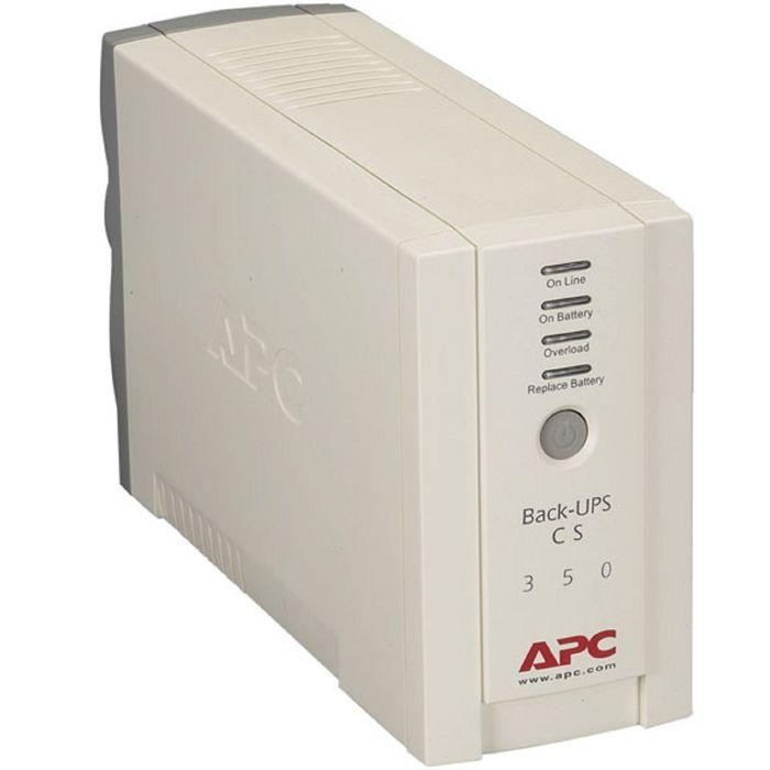 Источник бесперебойного питания APC Back-UPS BK350EI, 210 Вт, 350 ВА, белый