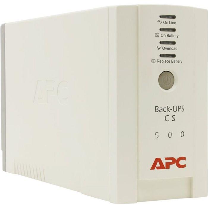 Источник бесперебойного питания APC Back-UPS BK500EI, 300 Вт, 500 ВА, бежевый