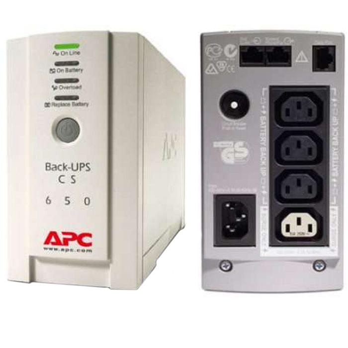 Источник бесперебойного питания APC Back-UPS BK650EI, 400 Вт, 650 ВА, белый