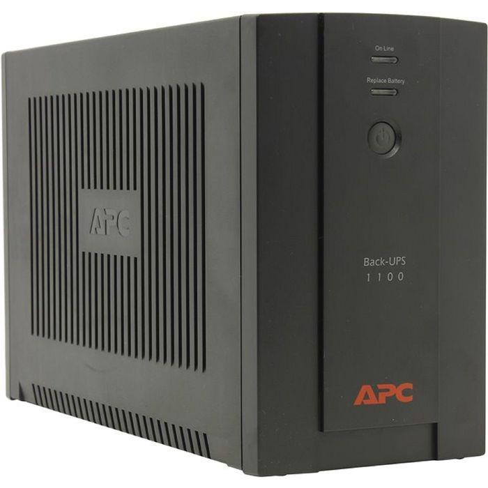Источник бесперебойного питания APC Back-UPS BX1100CI-RS, 660 Вт, 1100 ВА, черный