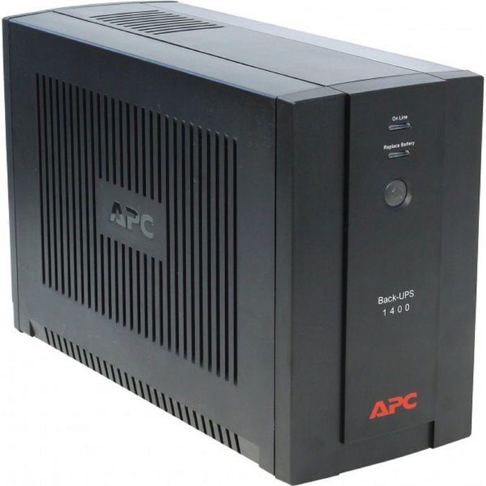 Источник бесперебойного питания APC Back-UPS BX1400UI, 700 Вт, 1400 ВА, черный