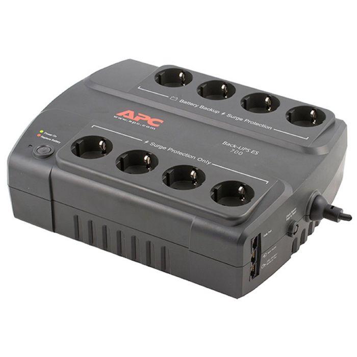 Источник бесперебойного питания APC Back-UPS ES BE700G-RS, 405 Вт, 700 ВА, черный