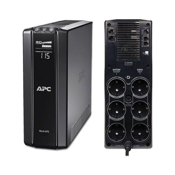 Источник бесперебойного питания APC Back-UPS Pro BR1500G-RS, 865 Вт, 1500 ВА, черный