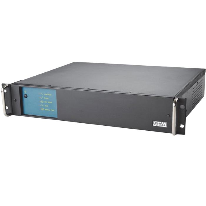 Источник бесперебойного питания Powercom King Pro RM KIN-600AP, 360 Вт, 600 ВА, черный