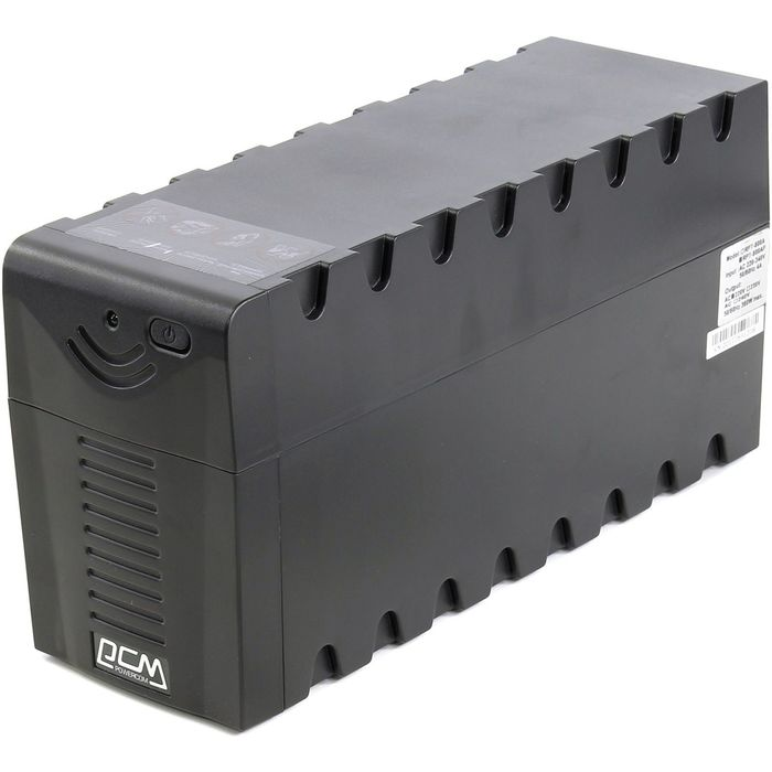 Источник бесперебойного питания Powercom Raptor RPT-600AP, 360 Вт, 600 ВА, черный