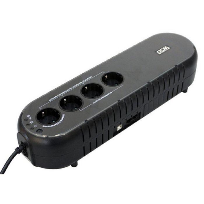 Источник бесперебойного питания Powercom WOW 1000U, 500 Вт, 1000 ВА, черный