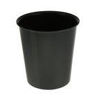 Корзина для бумаг 14 литров, цельная, чёрная