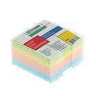 Блок бумаги для записей в пластиковом боксе 9*9*5 см цветной, прозрачный бокс