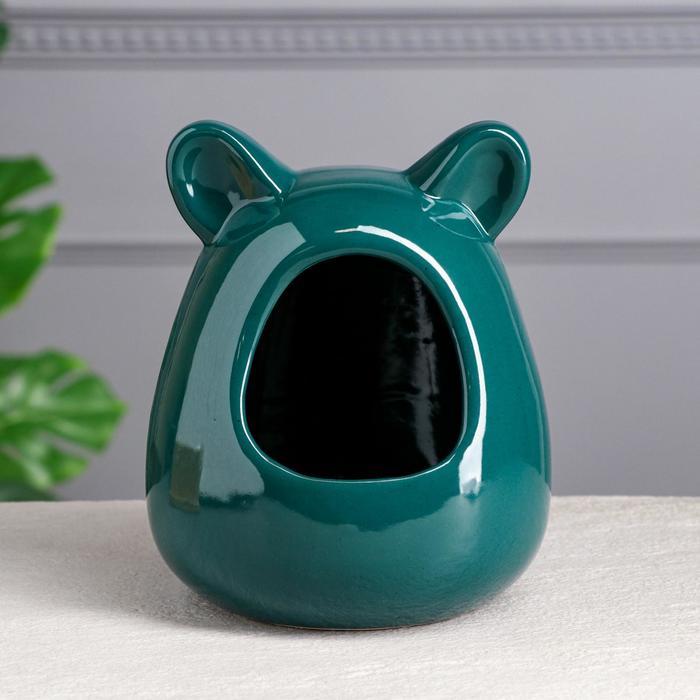 Ванна для шиншилл, зелёная, 21 см