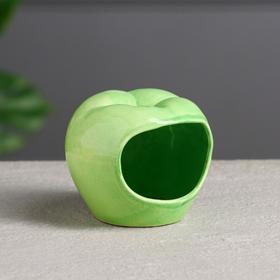 """Кормушка для хомячков """"Яблоко"""" цвет зеленый"""