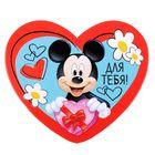 """Открытка-валентинка """"Для тебя"""" Микки Маус, 7х6см"""