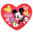 """Открытка-валентинка """"Люблю тебя"""" Микки Маус, 7х6см"""