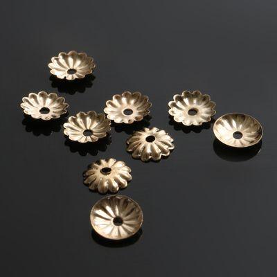 Шапочки для бусин (набор 50шт), СМ-079, цвет золото