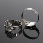 Основа для кольца с площадкой на 7 петель СМ-710-58А (набор 5шт) регул-й раз-р, цвет серебро