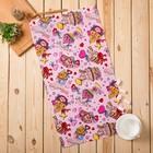 Полотенце вафельное набивное Пирожное  40*75 см розовое 160 гр/м хл.100%