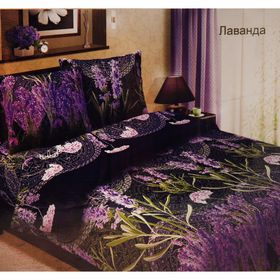 Постельное бельё дуэт Традиция «Лаванда фиолетовый», размер 147х217 см-2 шт., 220х240 см, 70х70 см-2 шт., 125 г/м²