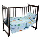 Детское постельное бельё Карамелька Дино голубой, 112*147,трикотаж.пр.на рез. 60*120*20,40*60 см  1шт, хл.100%