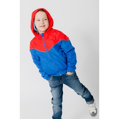 Ветровка для мальчика, рост 122-128 см, цвет красный/синий 1043