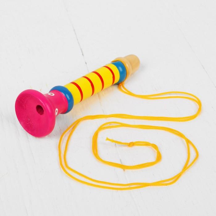 """Музыкальная игрушка """"Дудочка на веревочке"""", высокая, цвета МИКС"""