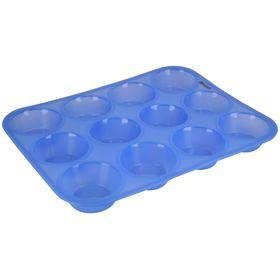 Форма для кексов, 12 ячеек, размер 33х25х3 см