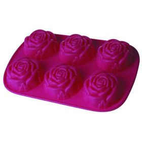Форма для кексов «Розочки», 6 ячеек, размер 28х18х3 см