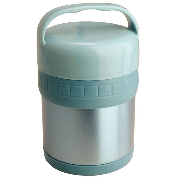 Термос ланч-бокс SOUP, цветной, 2 лотка, объём 1 л