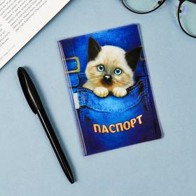 Обложка для паспорта 'Котик' Ош