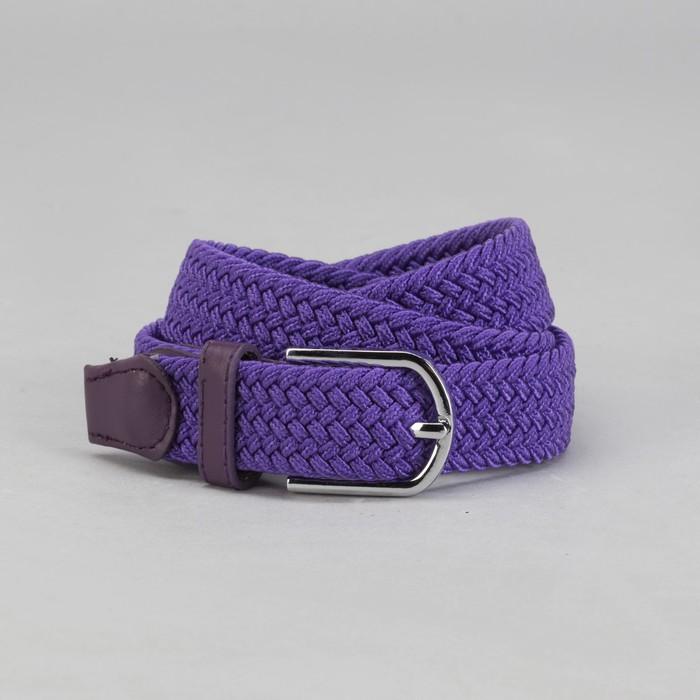 Ремень детский «Плетение», резинка, пряжка металл, ширина - 2,5 см, цвет фиолетовый