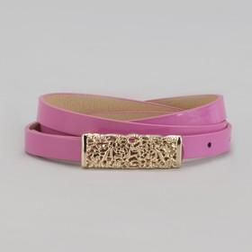 Ремень женский 'Ажур', ширина 1.5 см, пряжка-гвоздь под золото, цвет розовый Ош