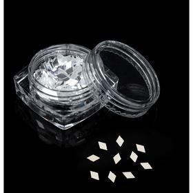 """Пайетки """"Ромбы"""" для декора ногтей, 3гр, цвет прозрачный"""