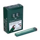 Грифели для механических карандашей 0.5мм Faber-Castell Polymer НВ 12 штук, футляр 521500