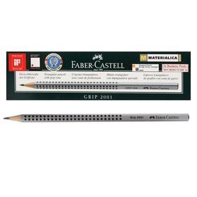 Карандаш чернографитный Faber-Castell профессиональные Grip 2001 2B трёхгранный корпус, массажные шашечки