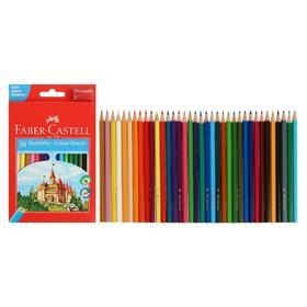 Карандаши 36 цветов Faber-Castell ECO «Замок» 1201 7/2.8 шестигранный корпус, с точилкой, микс