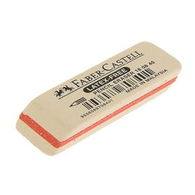 Ластик Faber-Castell каучук 7008 50х19х8, для графитных карандашей, белый