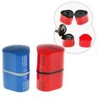 Точилка 3 отверстия с контейнером Faber-Castell TRIO Grip 2001 для стандартных и трёхгранны карандашей, цвет красный/синий