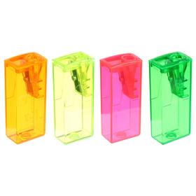Точилка 1 отверстие с контейнером Faber-Castell 5815 микс*5 цветов, флуоресцентные цвета