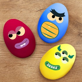"""Stickers for decorating eggs """"Country monsters"""""""
