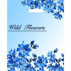 """Пакет """"Голубые цветочки"""", полиэтиленовый с вырубной ручкой, 34 х 45 см, 27 мкм - фото 150106164"""