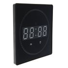 Электронные часы, t, будильник, календарь, бегающая секунда, цифры белые 26*26см УЦЕНКА