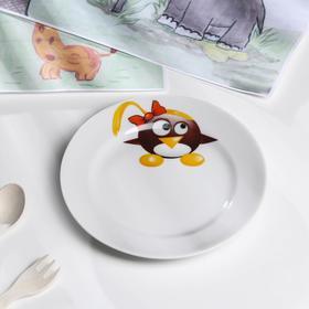 Тарелка мелкая «Пингвинчики» d=17