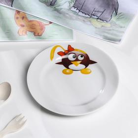 Тарелка мелкая 17 см 'Пингвинчики' Ош
